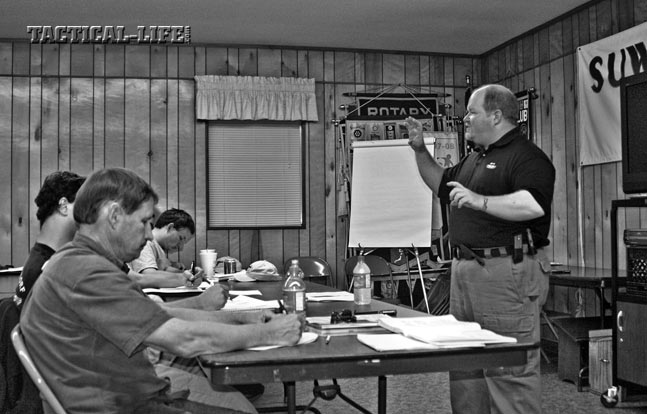 Understand the ramifications of concealed carry. Psychologist Aprill explains the emotional aftermath of using deadly force at an LFI-I class in Florida.