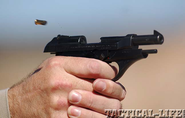 Beretta Model 70 firing