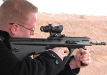 Linas with the Steyr AUG A3 .223