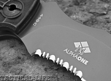 The two-step Spyderco-style serrations are ideal for cutting both webbing and rope. They are also easier to resharpen than some of the finer-toothed patterns.