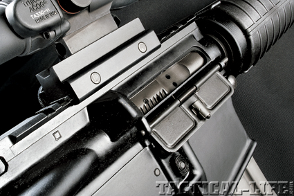 Del-Ton's AR features a Mil-Spec  magnetic particle inspected bolt carrier  with a properly staked carrier key.