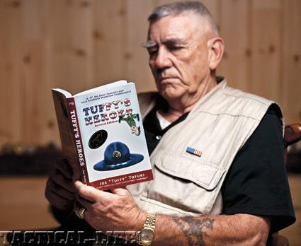 The Gunny reading