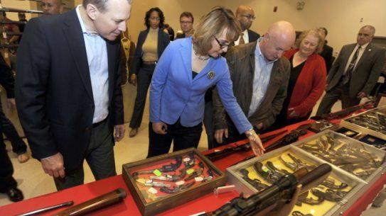 Gabrielle Giffords visits a Gun Show