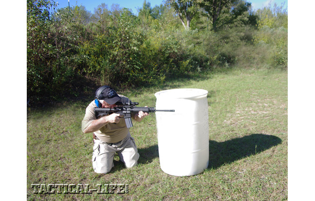 SIG M400 SRP from behind concealment