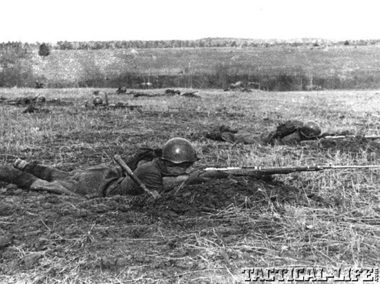 Soldier Shooting Mosin-Nagant
