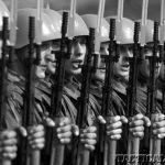 Soliders Yugo M59 Rifles