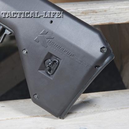 Soviet Weapons Kushnapup Saiga-12 Gauge Butt Stock Close Up