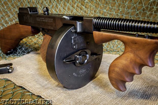 Thompson SMG Submachine Gun Drum Magazine