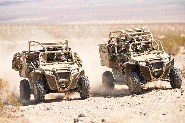 Polaris ATV in the desert