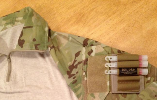 ExplosiveOps Gear Chem Light Holder on Uniform