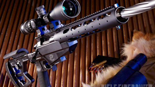 Hail to the match king— Colt's new .308 Winchester M2012 bolt action is designed for repeatable, sub-MOA precision, solid ergonomics and fast targeting. Shown equipped with a Trijicon 5-20x50 AccuPoint scope.