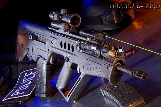 GWLE – Duty Rifles 2013 - IWI Tavor SAR with green laser