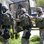 Law Enforcement Tactics - Explosive Breaching- In Position