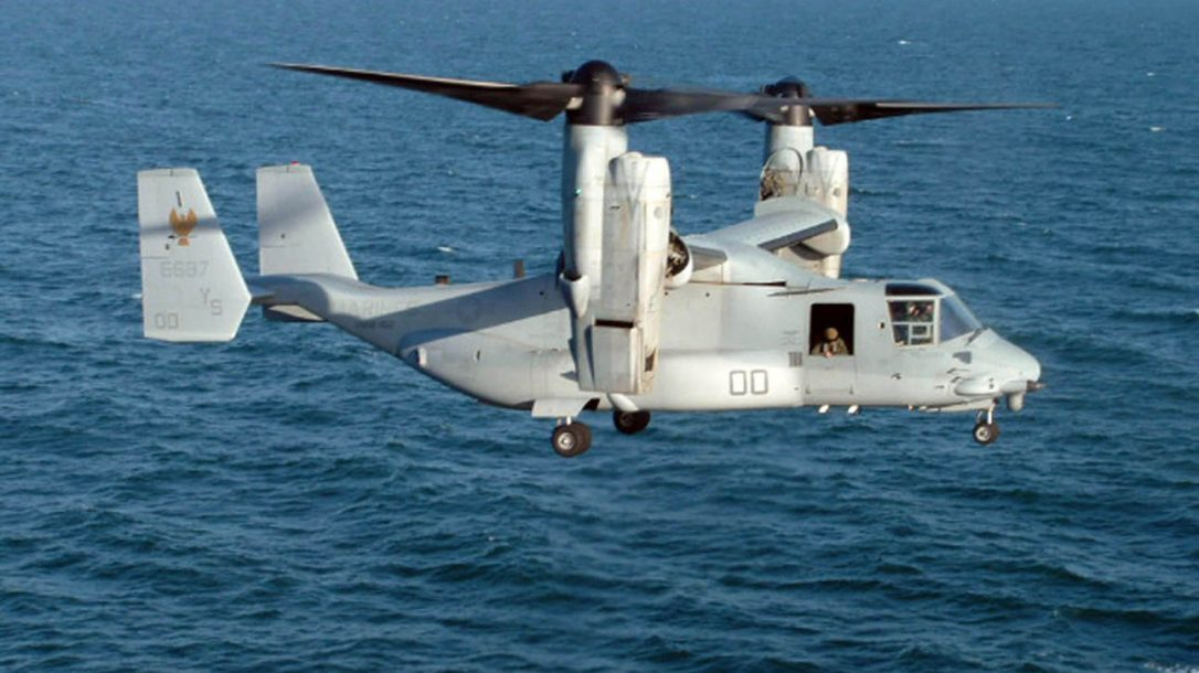 Military Exploring Osprey-Type Tilt-Rotor Aircraft