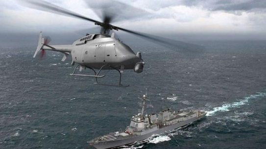 Navy Tests MQ-8C Fire Scout Unmanned Aircraft System