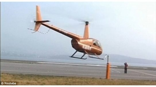 Pilots Open Beer Bottles with Helicopter