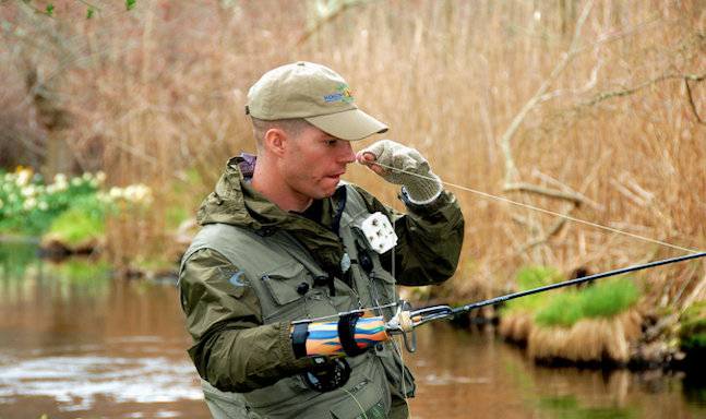 Program gives disabled military personnel and veterans the for Healing waters fly fishing