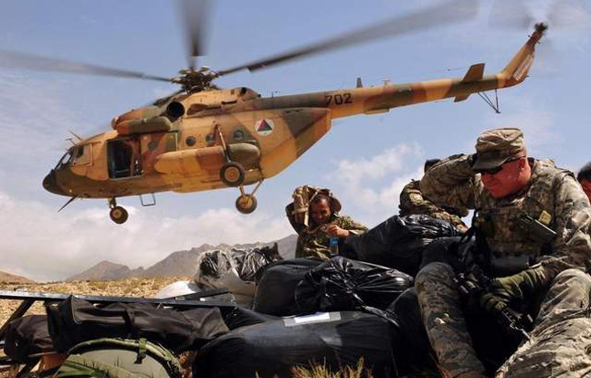 Russians Deliver Helicopters to Afghan National Army