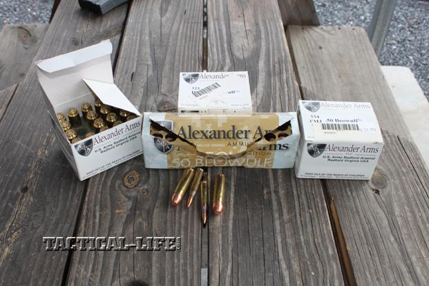Sneak Peek- Alexander Arms Entry .50 Beowulf Ammo