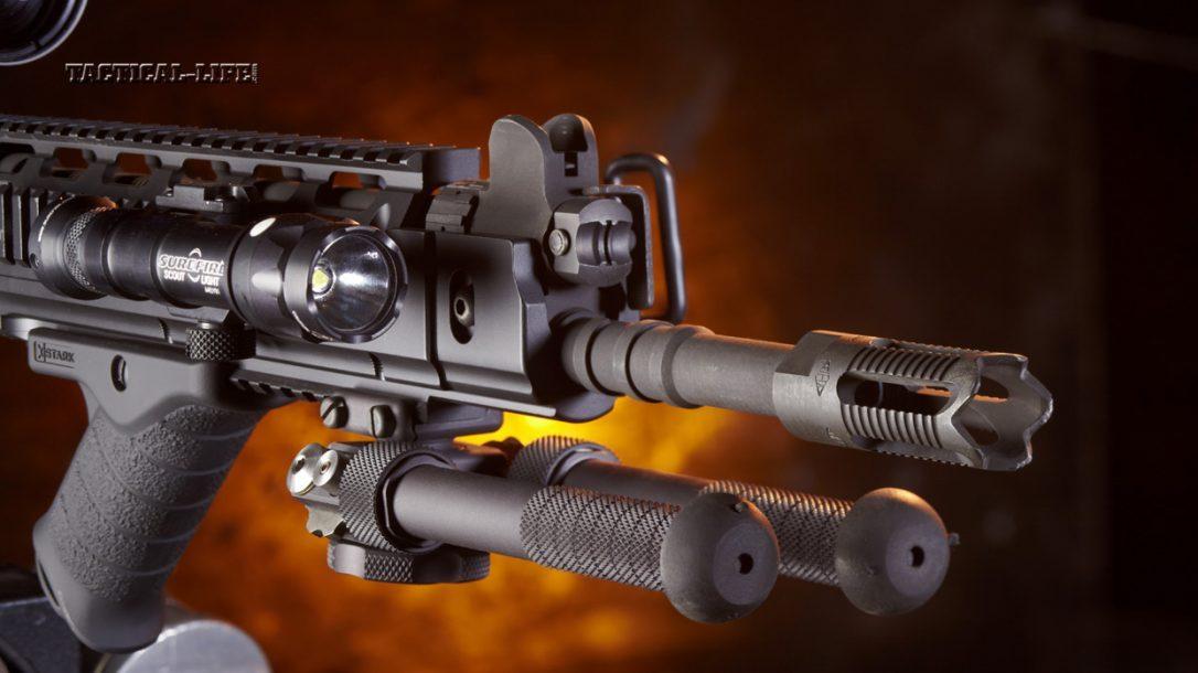 Sneak-Peek-DS-Arms-SA58-Para-7.62mm with a Leupold Mark 6 3x18-44, SureFire Scout light, Atlas Bipod, Stark SE-5 Express grip
