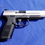 Tactical-Life Visits FNH USA - The longslide FNS is striker-fired and has a changeable backstrap.