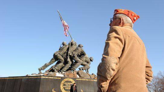 Veteran at Iwo Jima Memorial