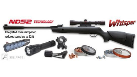 Whisper Air Rifle with Noise Dampener - Thanksgiving Combo