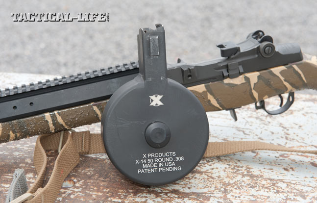 The X-14 is specifically designed for use in 7.62mm M14-platform rifles, including the Springfield M1A Scout.