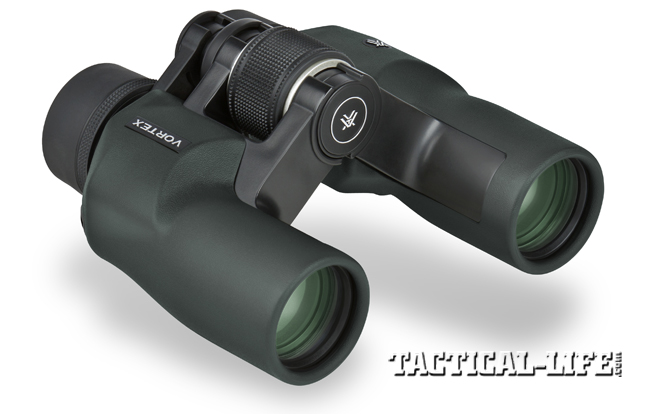 The Porro-prism or offset-barrel design, as on this Vortex Raptor 6.5x32 binocular, has an optical edge over roof-prism models.