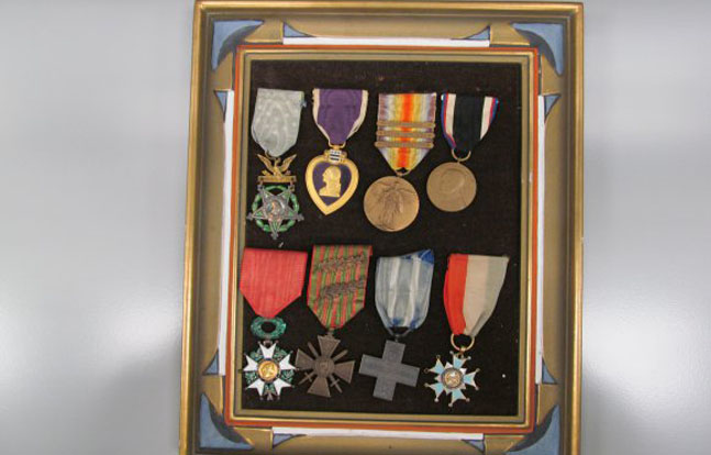The U.S. Army and Education Center will soon begin showing a collection of rare World War I medals.