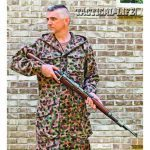 This Austrian camouflage smock is inspired by wartime German designs. Contemporary MultiCam is grossly similar.