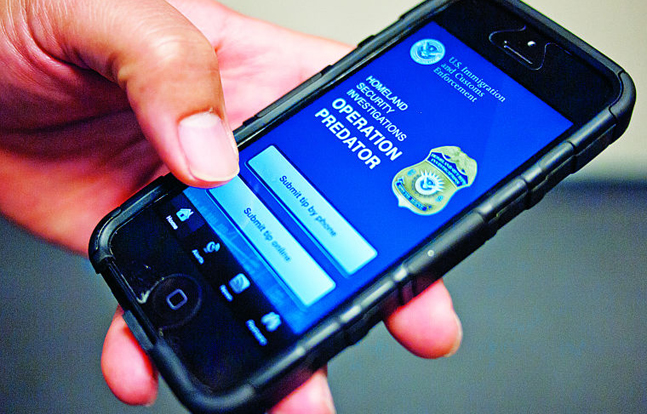 Law enforcement officials used a smartphone app called Operation Predator to catch a suspected child predator.