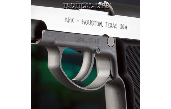 The High Standard AMT Backup is an ultra-compact, stainless .45 ACP built to deliver six life-saving rounds!