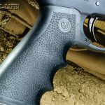 For a grip, Ruger chose to install a Hogue Monogrip, which is made of semi-soft rubber, features well-defined finger grooves and offers a solid, hand-filling hold.
