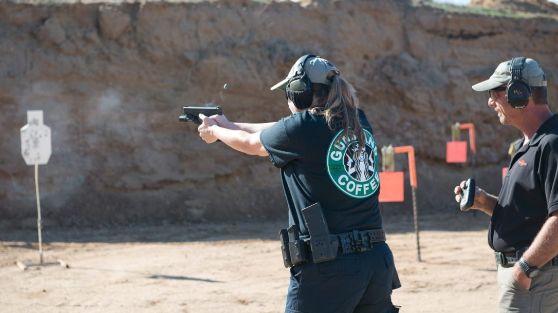 SureFire at the Range | New Products for 2014 - Amy in action