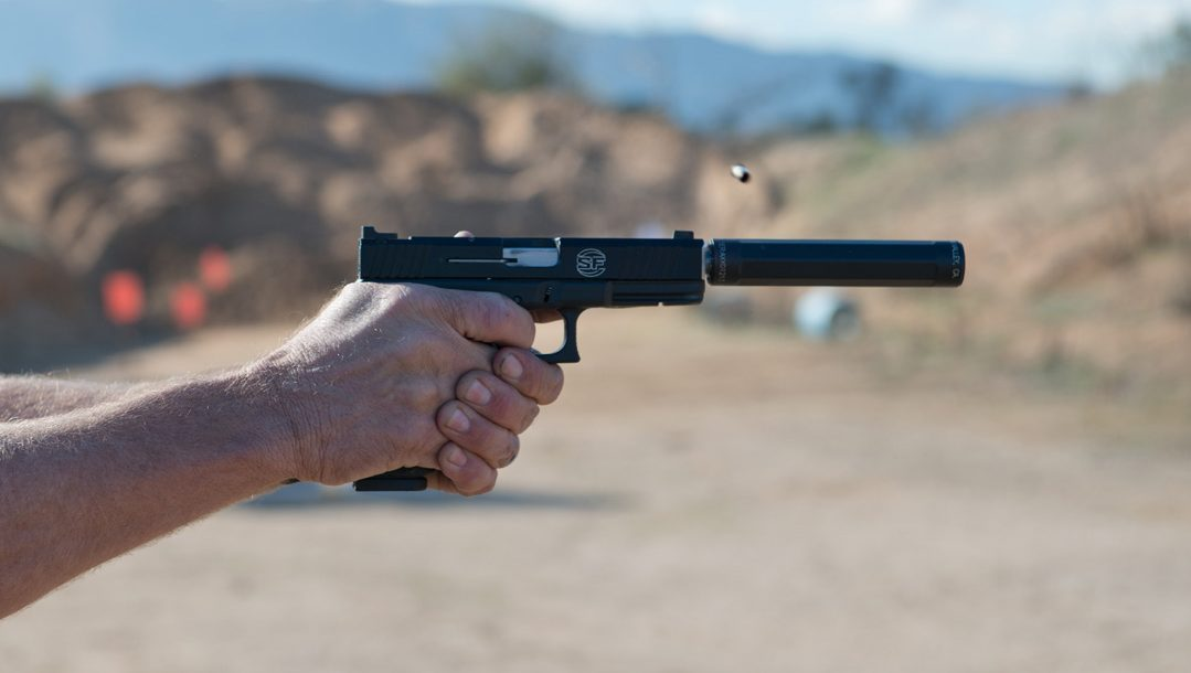 SureFire at the Range | New Products for 2014 - SureFire Ryder 22-A suppressor in action