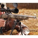 The Adaptive Tactical stock, available in black or three camo patterns, has a reversible rail in the forend.