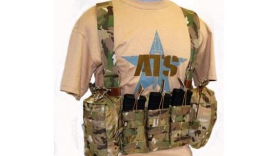 """The ATS Tactical Gear Low Profile Chest Harness is a combat chest harness with minimal bulk, weight, and """"footprint""""."""