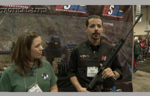 Mike Fowler from DS Arms showcases the new Voyager model rifle.