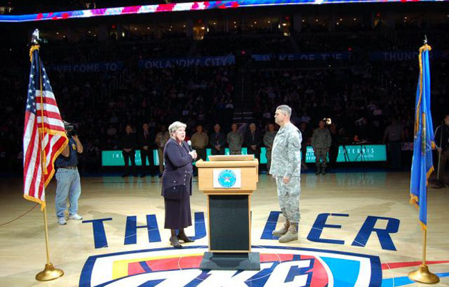 NBA basketball team the Oklahoma City Thunder have announced plans to hold their sixth annual Military Appreciation Night this coming Monday.