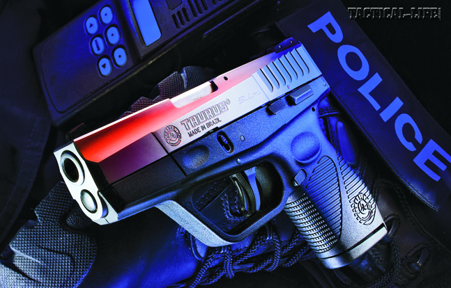 The striker-fired Taurus 709 packs 7+1 rounds of 9mm power into a compact and powerful semi-auto pistol ideal for LEO backup duty.