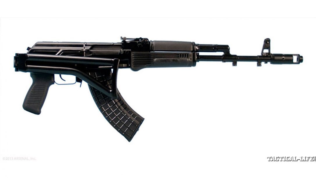 8 New AK Rifles For 2014 | Arsenal SAM7SF - Right-Side, Stock-Folded