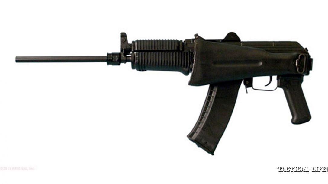 8 New AK Rifles For 2014 | Arsenal SLR-104UR Left Side, Stock folded