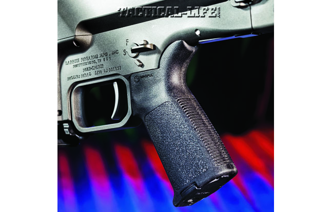 Barrett outfits the MRAD with a Magpul MOE pistol grip, and users can remove the match-grade trigger module and adjust its pull weight.