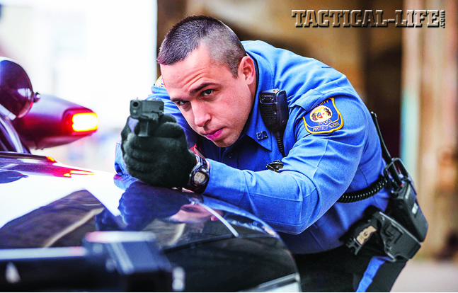 When you arrive at an officer-involved shooting and conditions permit, cover the suspects until sufficent backup arrives. Don't take unnecessary risks—time is on your side. When you arrive at an officer-involved shooting and conditions permit, cover the suspects until sufficent backup arrives. Don't take unnecessary risks—time is on your side.