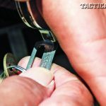 Always make sure to double-lock the handcuffs to restrict movement—but not circulation.