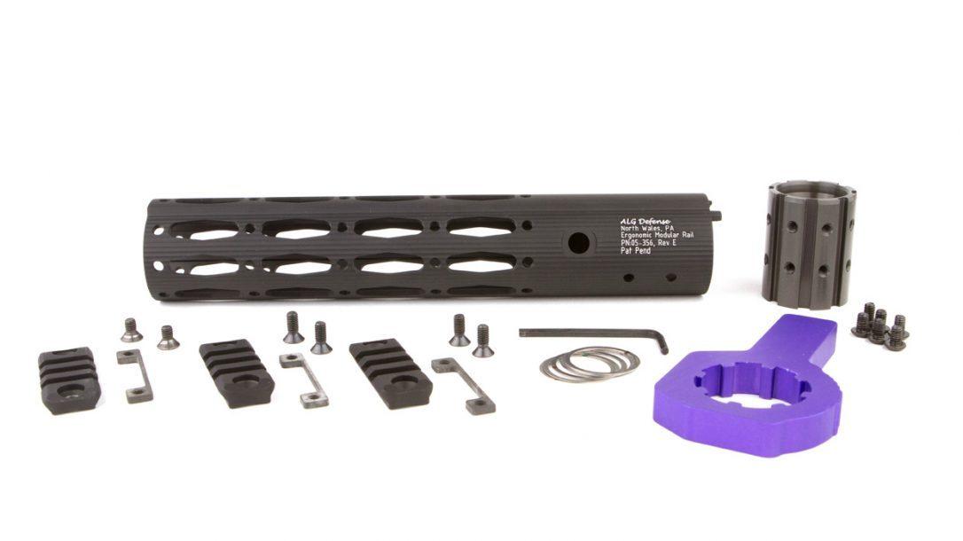 ALG Defense Ergonomic Modular Rail EMR - Black with tools