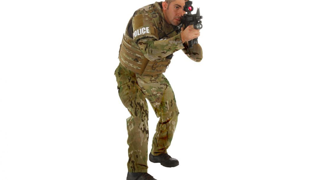 Today's body armor isn't limited to just vests. Throat, groin and bicep ballistic protection options are also available.
