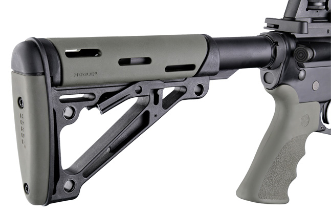 Hogue Rubber OverMolded Collapsible Buttstock | Green