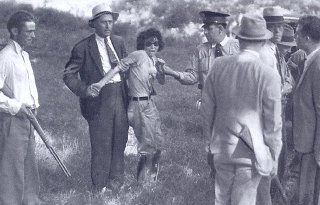 Blanche Barrow captured at Dexfield Park, July 24, 1933.